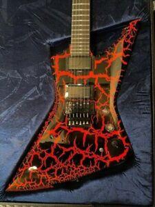 Schecter BalSac E-1 FR Black Orange Crackle Electric Guitar + Hard Case