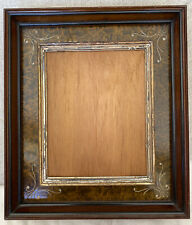 Antique EASTLAKE  Aesthetic Victorian Deep Walnut Etched Picture Frame