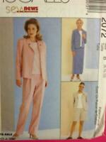 McCalls Sewing Pattern 2072 Ladies / Misses Top Pants Skirt Size 8-12 Uncut
