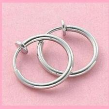 1 Pair Clip On Hoop Ear Septum Nose Big Earrings, No Need Holes, Body Piercing