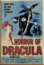 Christopher Lee Horror of Dracula Movie Poster FRIDGE MAGNET Cult Classic  Vampi