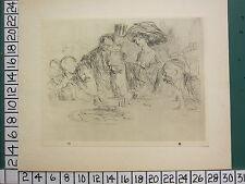 1925 Jean-Louis FORAIN print ~ a la table de jeu ~ la table de jeu