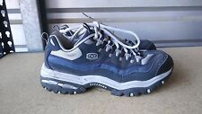 Men's Skechers Size 9 5150 Blue and Gray Hiking Ankle Shoes - Boots Used  Trail
