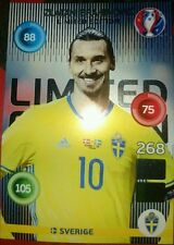 Zlatan Ibrahimovich Limitada Limited Edition Adrenalyn XL EURO 2016 France Rare