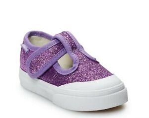 New Adorable Vans Leena ToddlerGirls' Shoes Size: 9 T Purple Glitter!