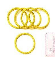 5 elastische Haargummis Zopfgummi Glitzer gold goldfarben Außendurchmesser 5 cm
