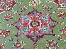 Clarke & Clarke Green Ethnic Upholstery Fabric - Malatya Basil 1.40 yd F0798/03