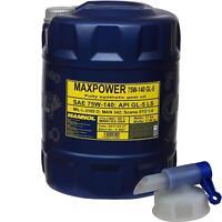 20 L MANNOL Getriebeöl Maxpower 4x4 75W-140 API GL 5 LS Gear Oil + Auslaufhahn