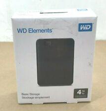⭐WD 4TB Elements Portable External Hard Drive - USB 3.0 - WDBU6Y0040BBK-WESN New