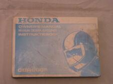 HONDA CBR600 1991 OWNERS MANUAL DEL PROPIETARIO INSTRUCTIEBOEK