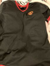 Manchester United Youth XL Black Red Jersey Soccer