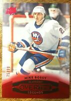 2015-16 UD Overtime RED - MIKE BOSSY #49 New York Islanders Legends /99