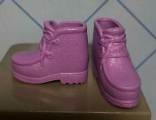 PURPLE Camping Barbie Doll Clothes FASHION EXTRAS Lace-up LOAFERS Hiking BOOTS