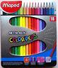 18 crayons couleurs dessin coloriage MAPED color'peps boite métal activités