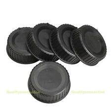5pcs Rear Lens Cap Cover for All Nikon AF AF-S DSLR SLR Camera LF-4 Lens Black