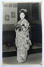 Japanese Old Postcard Oiran Geisha Maiko Woman 964