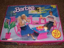 Vintage Barbie Home Entertainment Center 22 pc Playset 7941 Mattel 1987 Toy NRFB