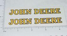 "John Deere Yellow/Black 4"" Text Stickers Stickers      JD-390"