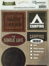 HAPPY CAMPER Die-Cut Stickers(10pc) Reminisce•Campfire•S'More•Outdoors •Family••