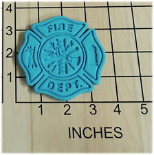 Fire Fighter Shield Fondant Cookie Cutter and Stamp #1078