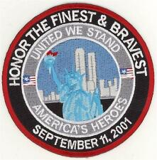 "91101 Honor the Bravest and Finest Patch (4"")"