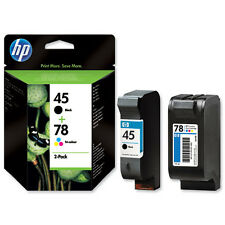 ORIGINAL 2013 DATE HP 78 COLOUR + 45 BLACK CARTRIDGES 2 YR GUARANTEE FASTPOSTAGE