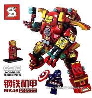 Avengers 25cm MK46 Iron Man figure toy Hulk Buster Tony Stark captain America
