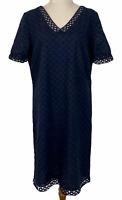 Jacqui E Womens Black Lace Short Sleeve Lined Dress Size 10