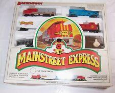 Vtg Model Train Set,Santa Fe Mainstream Express,Bachmann,HO Scale,Electric NEW