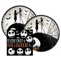 Nightmare Before Christmas Halloween Party 16 Paper Dessert Plates and Napkins