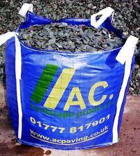 Green Slate chippings/Stone 40mm Bulk Bag. Free membrane Free Del 25 mile radius
