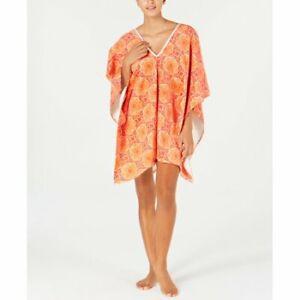 """Martha Stewart Collection Bohemian Rhapsody Floral Cotton 35"""" x 64"""" Beach Poncho"""