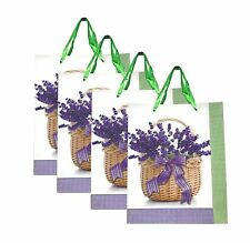Lagiwa® Lot de 4 Sacs Papier Cadeaux LAVANDE VERT MM 32X26X10cm