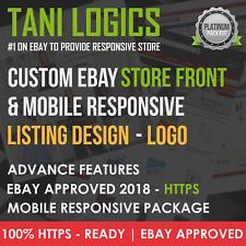 Custom Mobile Responsive eBay Store Shop & Listing Template Design Service 2017