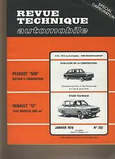 (30B) REVUE TECHNIQUE AUTOMOBILE RENAULT 12 1300CM3 / PEUGEOT 504 CARBURATEUR