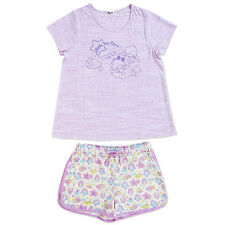 Little Twin Stars adult room wear ladies ML size with purse Sanrio Kawaii F/S