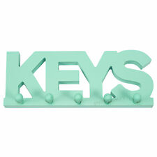 Key Holder Storage Hooks Wall Mounted Mint Green Rack Hanger Kitchen Storage
