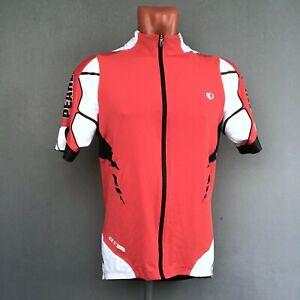 Pearl Izumi Pro Red Black Full-Zip Up Bib Cycling Jersey Shirt  XL