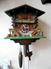 VINTAGE GERMAN MADE CHALET STYLE CUCKOO CLOCK WITH GONG IN LOVELY CONDITION GWO