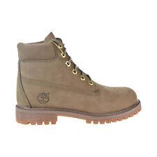 Timberland Premium 6 Inch Waterproof Boot Big kids' Shoes Dark Beige TB0A1VDT