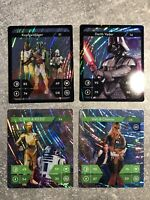 Kaufland Star Wars Sammelkarten Glitzer Selten 4Stk.