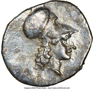 Ancient LUCANIA. Metapontum. Ca. 325-275 BC. Silver diobol  NGC Graded Ch VF