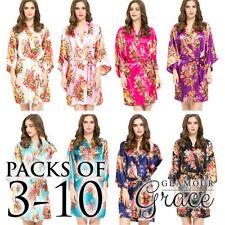 Satin Bridal Floral Sleepwear for Women
