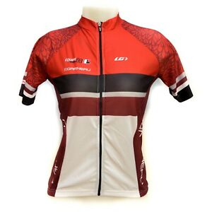 Louis Garneau W'S Equipe Series Women's Cycling Jersey Diamond Full Zipper Red