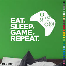 Xbox One comer dormir juego repetir Pegatina Calcomanía Pared Arte Childrens bedroom Juegos