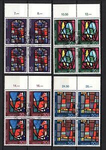 Suiza, año 1971, serie completo en bloque de cuatro, usado, Michel-Euro 6,40 (93