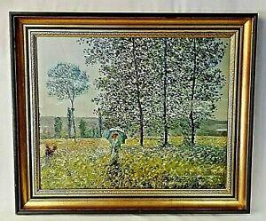 Claude Monet, Gilt-framed colour print of 'Woman with Parasol'