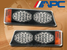 LED LOOK SMOKE CORNER PARKING SIGNAL LAMPS LIGHTS FOR 03-07 SILVERADO AVALANCHE