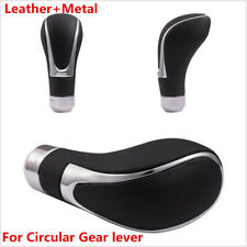 1x Black Leather Car Transmission Gear Shift Knob Shifter Lever Handle Stick