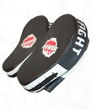 New Punch Power Hook & Jab Focus Pads Training Punch Mitts - Black / White